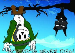 The cover art for Boredom Never Dies