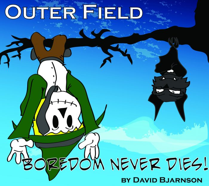 The cover art for Boredom Never Dies